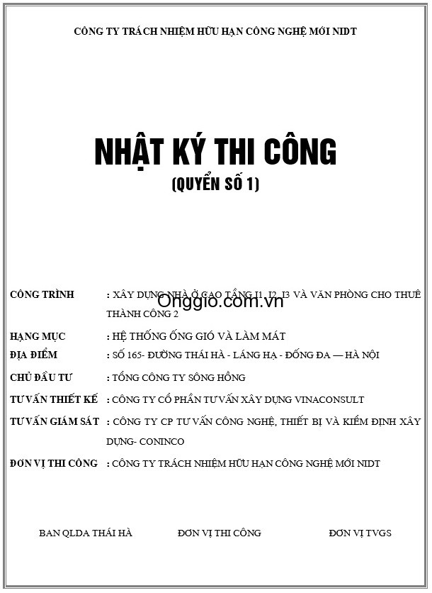 nhat ky thi cong ong gio